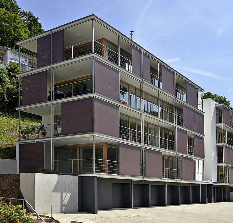 Das Appartementhaus am Saderlacherweg ...t mit dem Badischen Architekturpreis.   | Foto: Michael Duffner