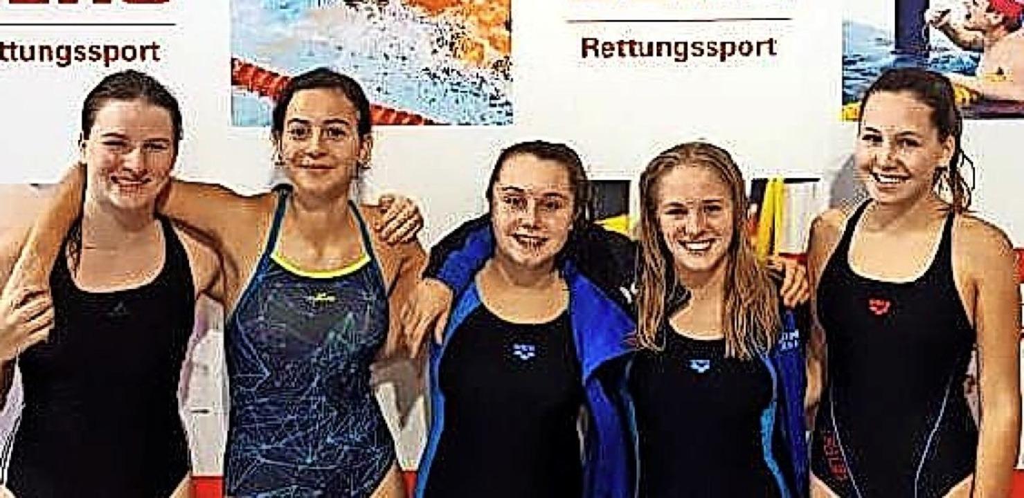 <BZ-FotoAnlauf>DLRG-Jugend: </BZ-FotoA...chen Mehrkampf-Meisterschaften zurück.    Foto: Privat