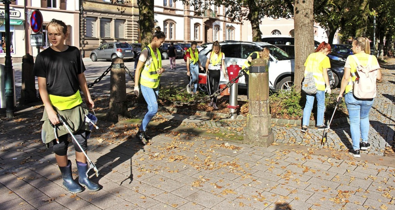 Nachhaltigen Eindruck hat die Stadtput...ür das Thema Müll zu sensibilisieren.     Foto: Martin Klabund