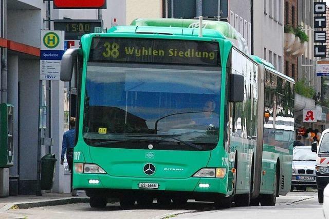 Erstmals nutzen weniger Fahrgäste die Linie 38 von Grenzach-Wyhlen nach Basel