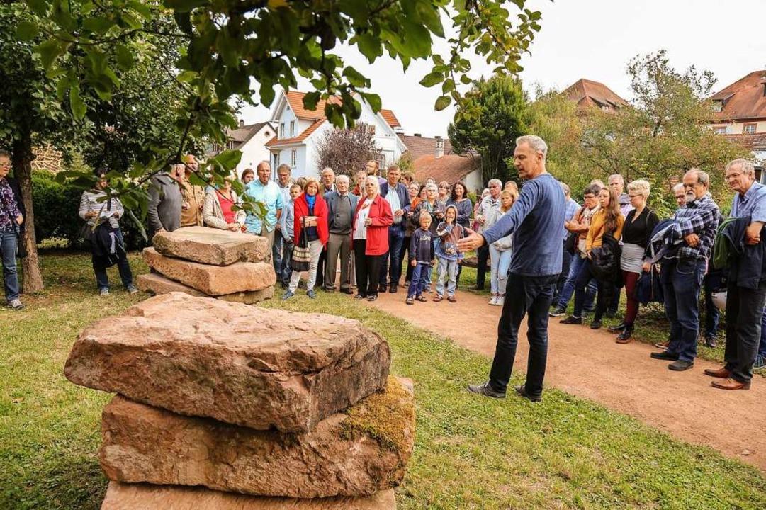 Auch die Finissage des Bildhauersympos...n Ettenheimer Bürgerinnen und Bürgern.  | Foto: Sandra Decoux-Kone