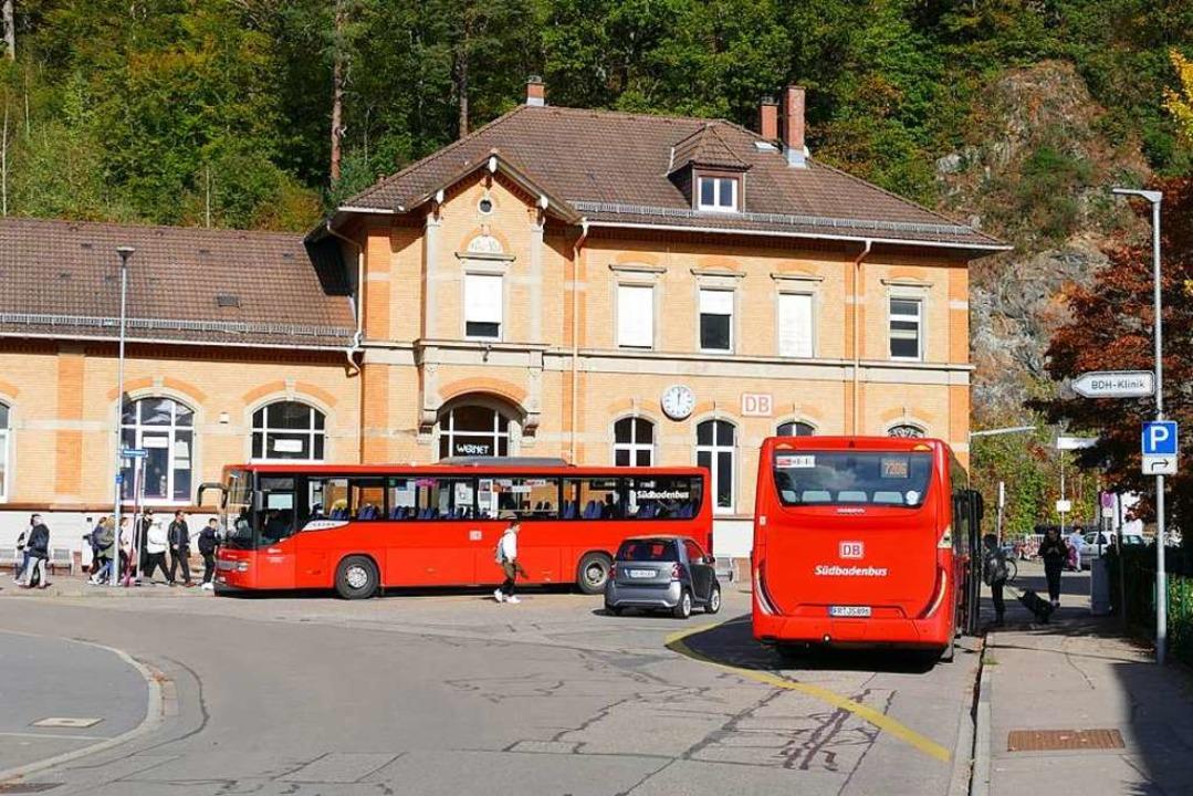 Der Bahnhof Waldkirch wird jetzt von v...e, Hauptstraße bis nach Bleibach vor.   | Foto: Sylvia Sredniawa