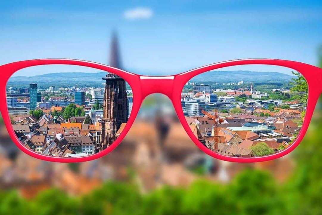Wie rosarot ist die Brille, mit der di...und Freiburger auf ihre Stadt schauen?    Foto: Photographer: Markus Gann -  htt