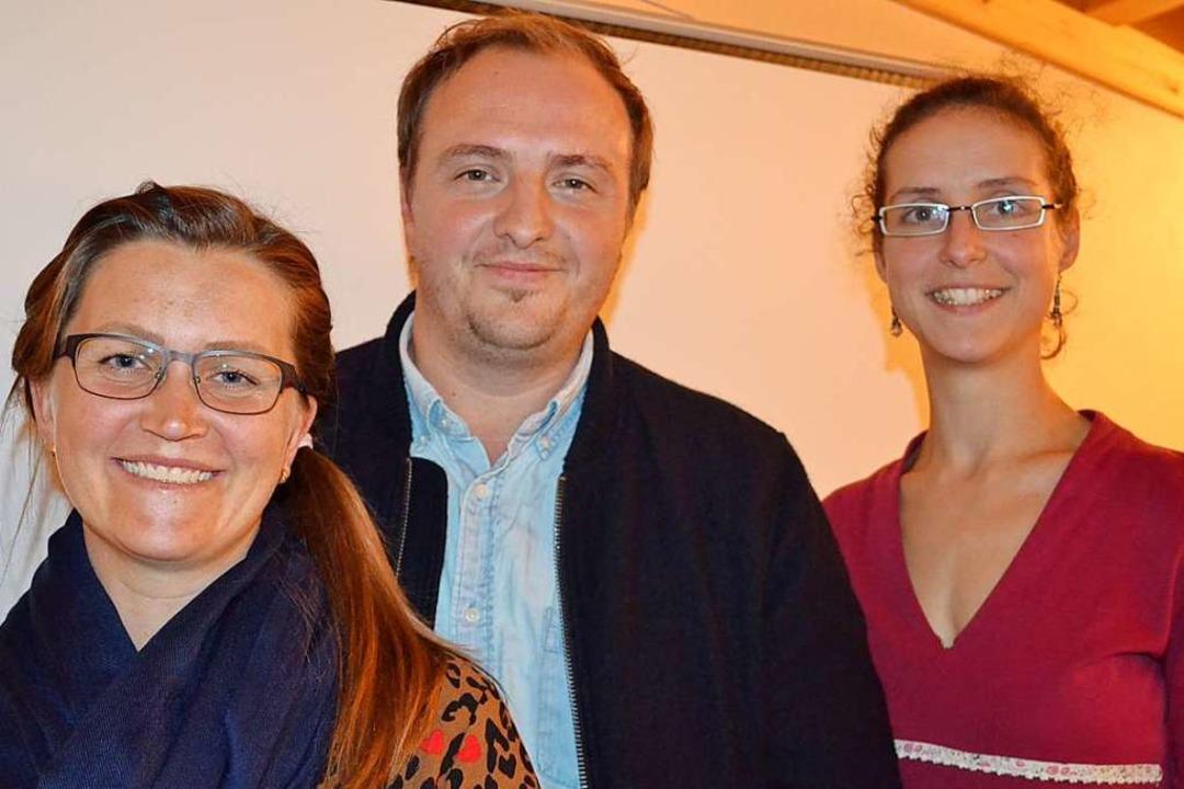 Das Führungsteam des Fördervereins (vo...Ostertag,  Jan Herr und Judith Boelman    Foto: Liane Schilling