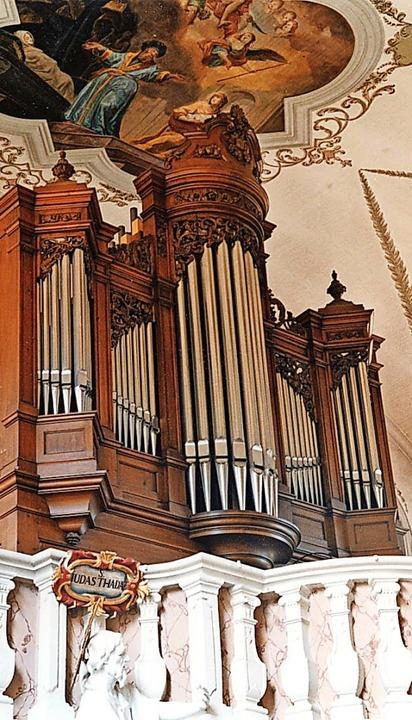 Zum Jubiläum 150 Jahre Walcker-Orgel musizierte der Organist Michael Kemper.     Foto: Hubert Bleyer