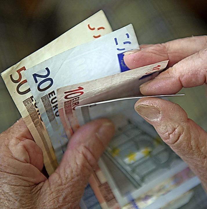 Jeder Euro zählt.  | Foto: Marijan Murat (dpa)
