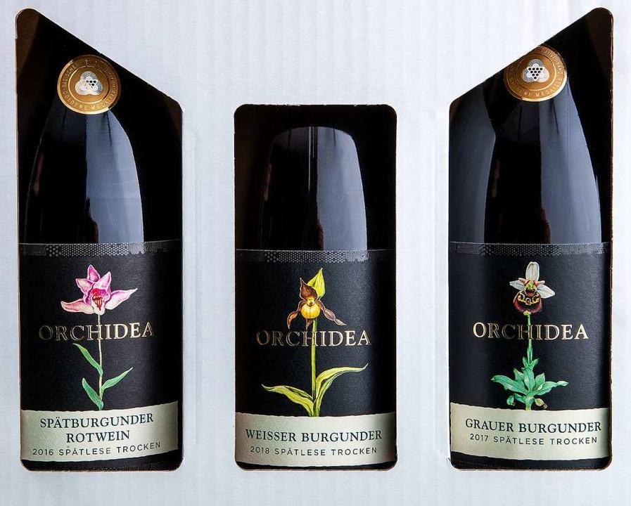Genuss im Dreierpack: Premiumweine aus Sasbach     Foto: Michael Wissing