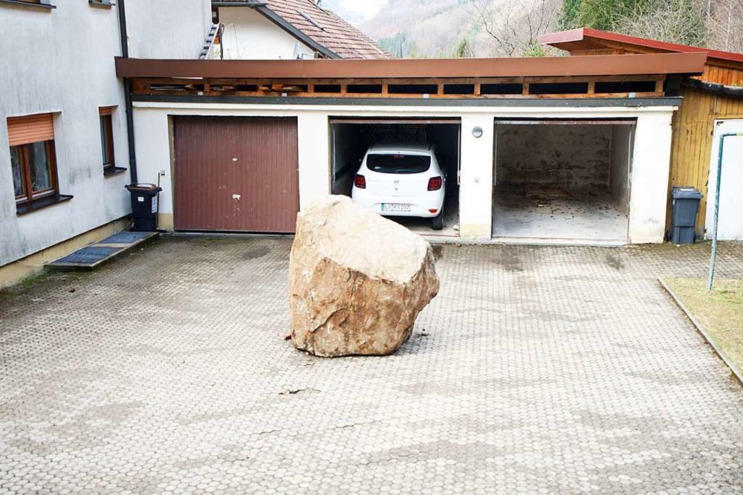Der im März abgegangene Felsen in Geschwend    Foto: privat