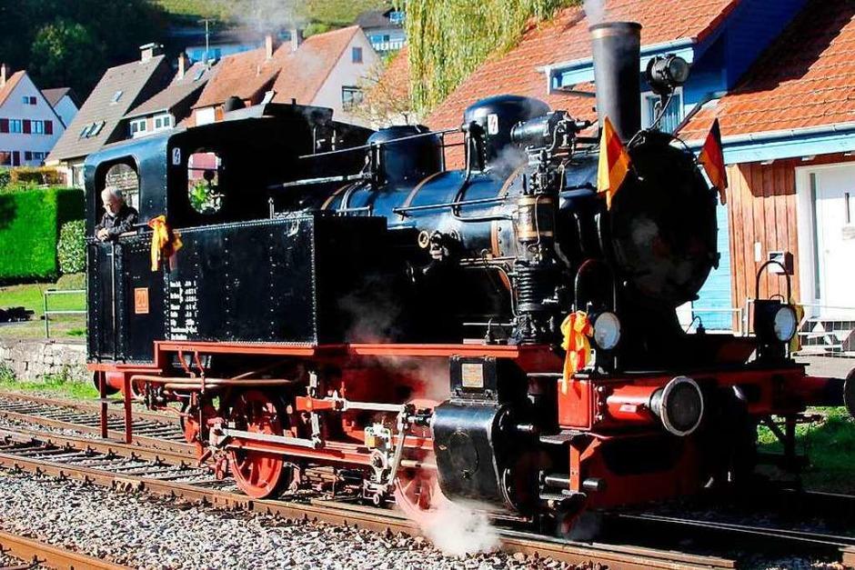 """Eindrücke vom Festtag """"50 Jahre Museumsbahn Chanderli"""" in Haltingen (Foto: Reinhard Cremer)"""