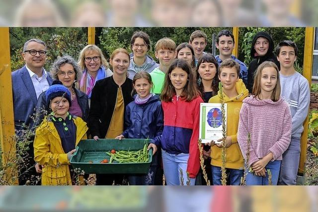 Heimschüler mit grünem Daumen
