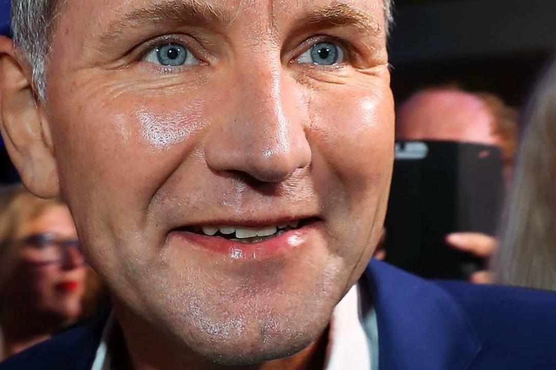 Björn Höcke: Seine nationalistisch-völ...hten konnten Wähler nicht abschrecken.    Foto: Jens Büttner (dpa)