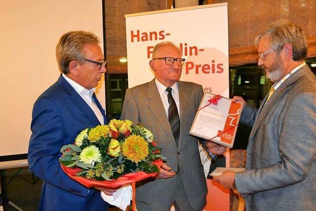 Stephan Helbig wird mit dem Hans-Fräulin-Preis gewürdigt