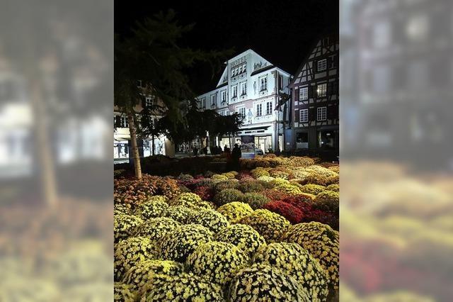 Die Innenstadt im Lichterspiel