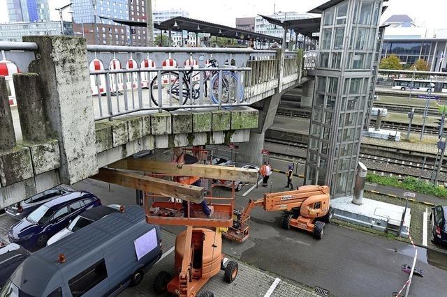 Die Stadtbahnbrücke wird Baustelle