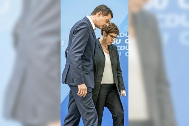 CDU-Vorsitzende stellt Machtfrage
