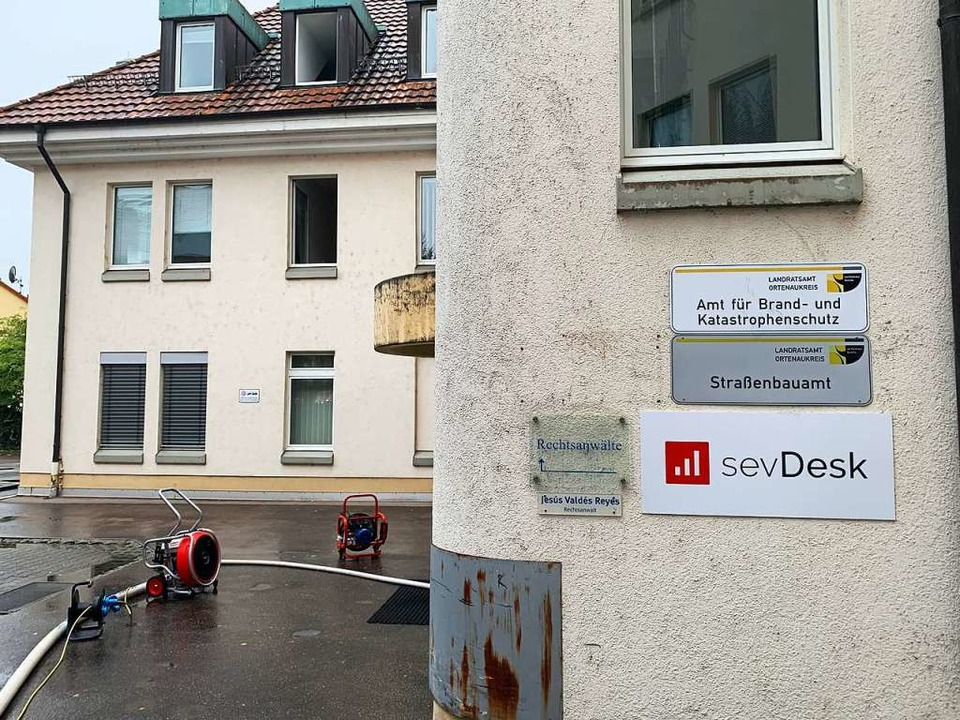 Auch das Amt für Brand- und Katastroph...r Straßenbauamt, Büros in dem Komplex.  | Foto: Helmut Seller