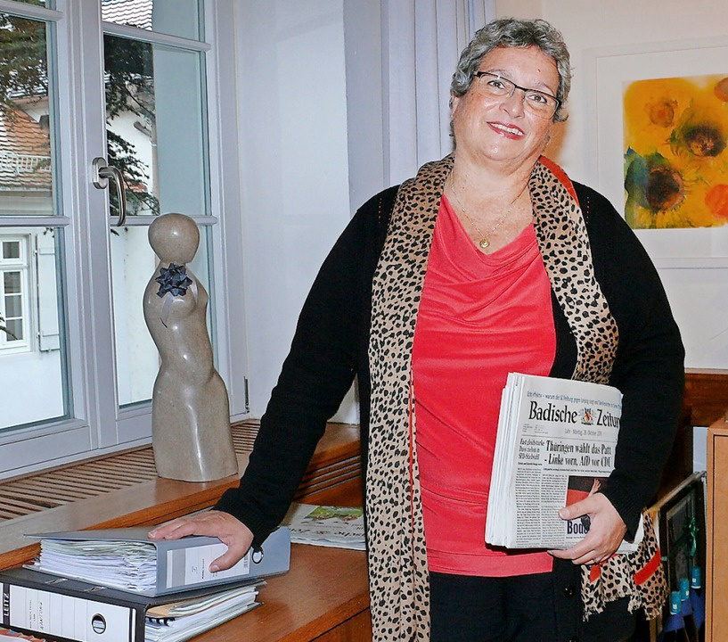 Petra Bredemeyer organisierte im Bürge...ollegiale Miteinander in seinem  Büro.  | Foto: Stadt Lahr