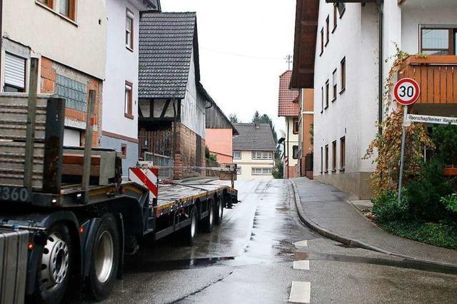 Oberschopfheim diskutiert über ein Lkw-Fahrverbot