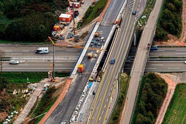Brückenabriss an der A5 bei Rust – Vollsperrung am kommenden Wochenende