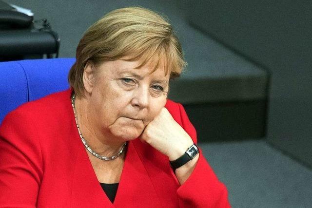 Kanzlerin Angela Merkel ist auf Tauchstation