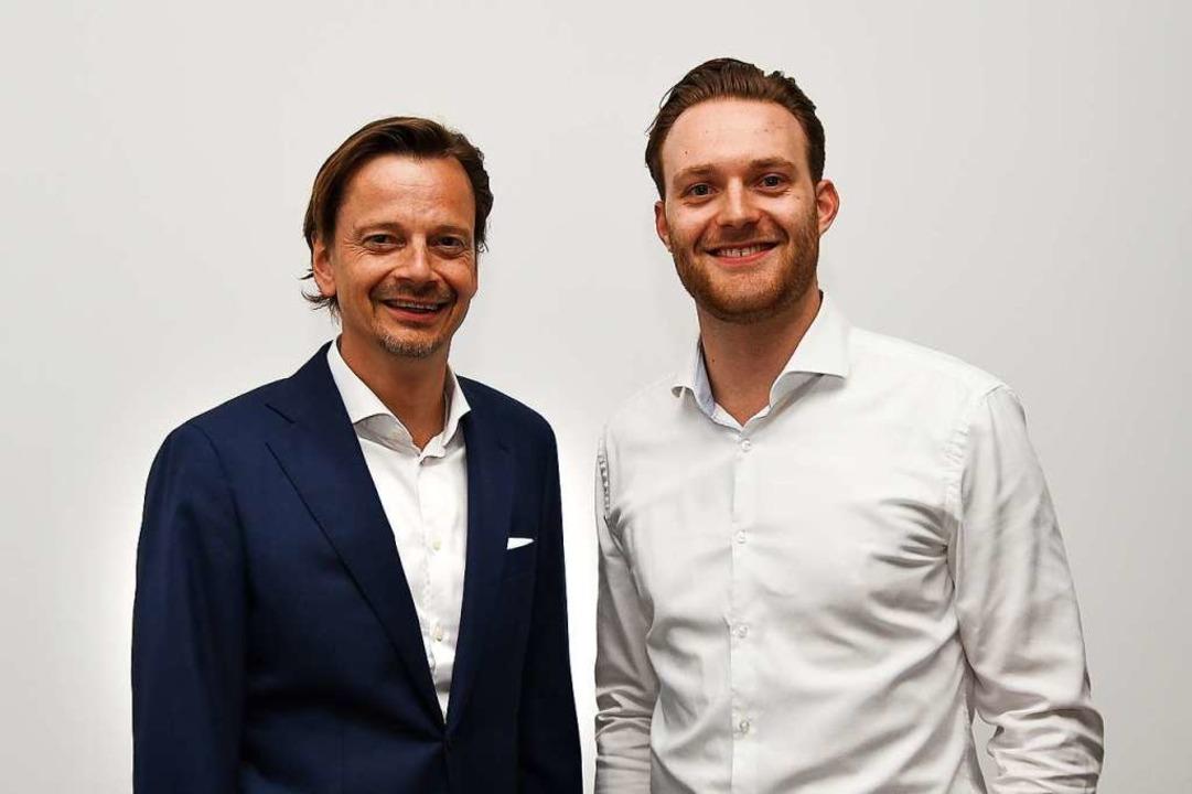 <BZ-Keyword>Der scheidende Digitalchef...Keyword>Andreas Ege</BZ-Keyword> (l.).  | Foto: Stefan Gihring