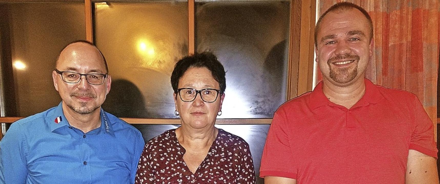 Der Vorstand der Vogtei Obertal: (von ...lke Scribano und Vize-Vogt Sven Woywod    Foto: Obertal