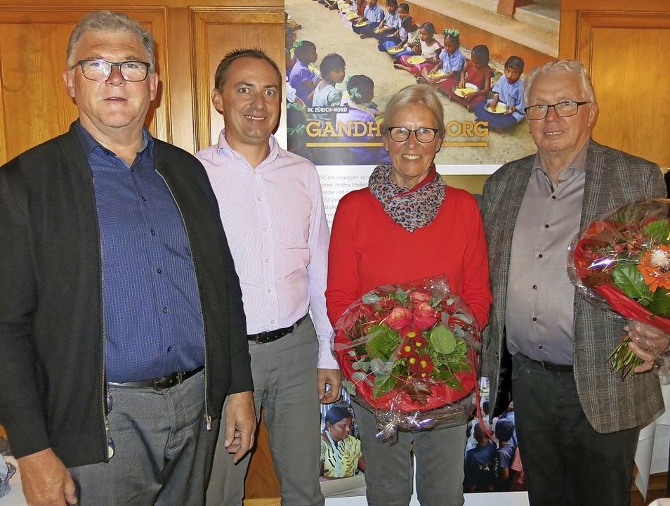 Eckhard Fechtig wurde zum 1. Vorsitzen...reinspräsident Ernst Forster (v.li.).   | Foto: Erhard Morath