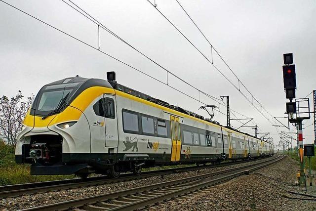 Mireo-Züge machen auf ihrer Testfahrt Halt im Markgräflerland