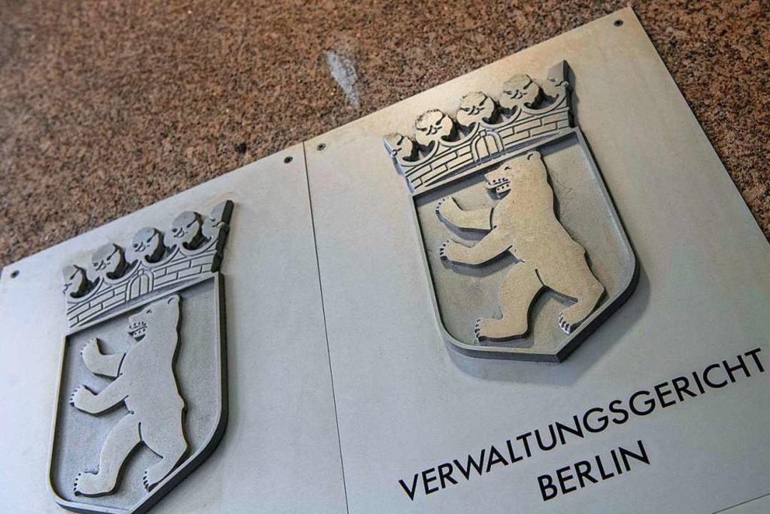 Am Berliner Verwaltungsgericht wurde d...ingebracht – und zurückgewiesen.  | Foto: Paul Zinken (dpa)