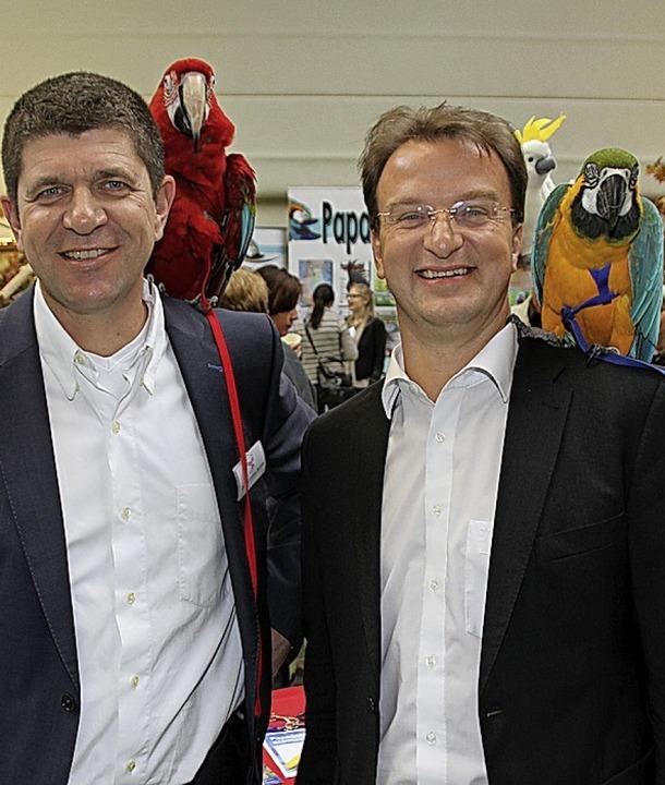 Marcellus Bürkle (links) und Matthias ...it den Vogelfreunden nach Achern ein.     Foto: spe