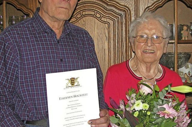 Eiserne Hochzeit im Ortsteil Stampf