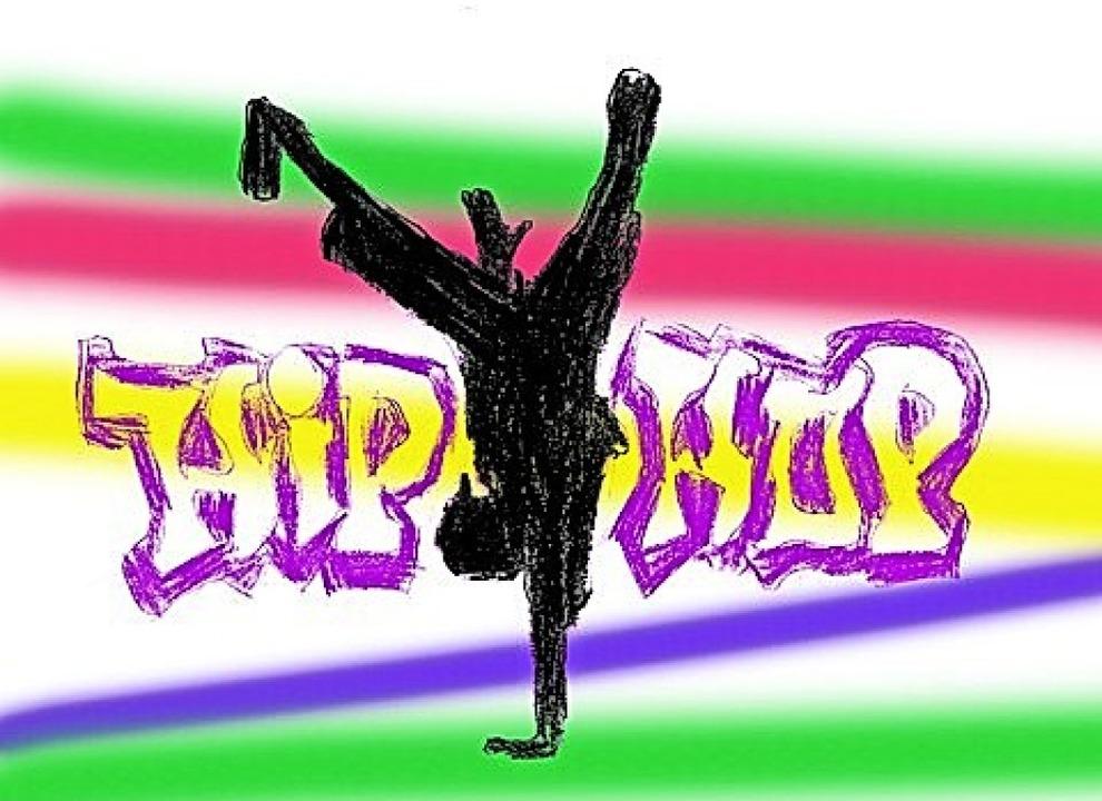 Dieses Hip-Hop-Logo hat Zisch-Reporterin Luna Maager  gezeichnet.    Foto: Luna Maager