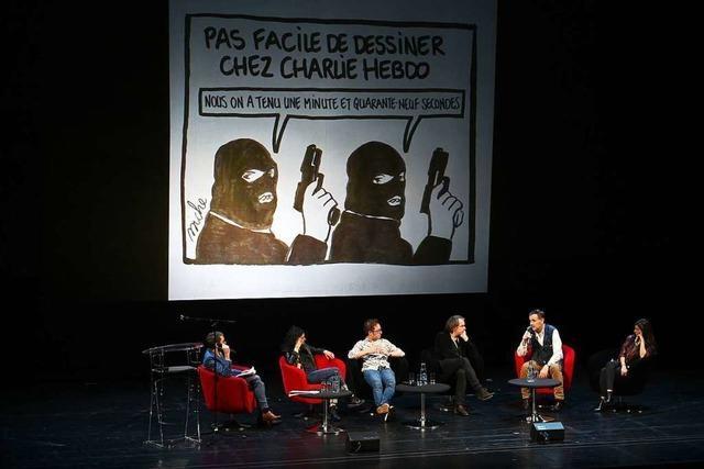 Redaktion von Charlie Hebdo tritt in Straßburg erstmals seit Anschlag auf