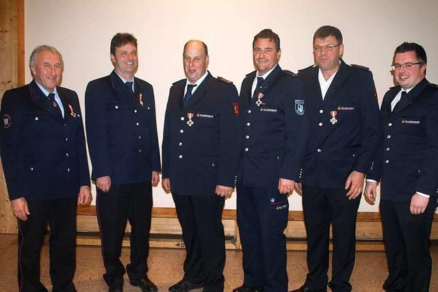 Rickenbacher Feuerwehr erhält 26 Mal Edelmetall