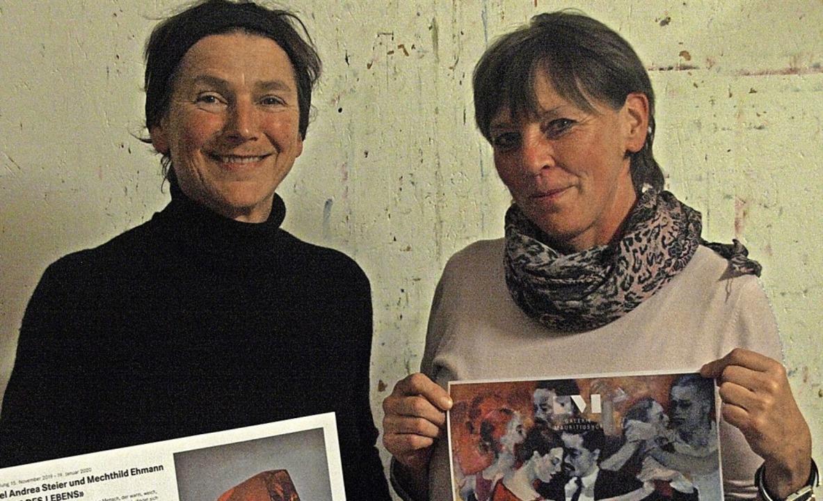 Die Bernauerin Christel Andrea Steier ...llung im schweizerischen Bad Zurzach.   | Foto: Karin Stöckl-Steinebrunner