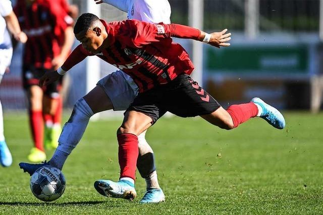 Emilio Kehrer trifft für die SC-U19 in Fürth in der Nachspielzeit
