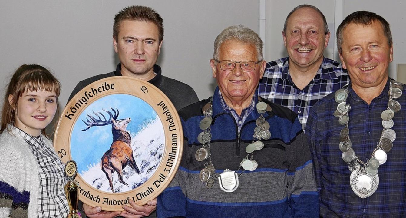 Die besten Schützen der Schützengesell...lter, Peter Sackner und Peter Jordan.     Foto: Eva Korinth