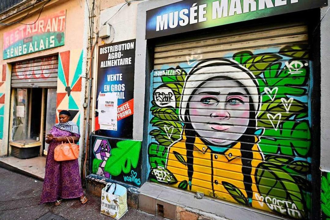 Ein Bild von Thunberg in Marseille  | Foto: GERARD JULIEN (AFP)