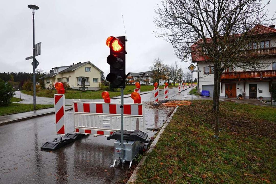 Am Ortsausgang  Strittmatt Richtung En...ht das deutlich langsamer als geplant.  | Foto: Hans-Jürgen Sackmann