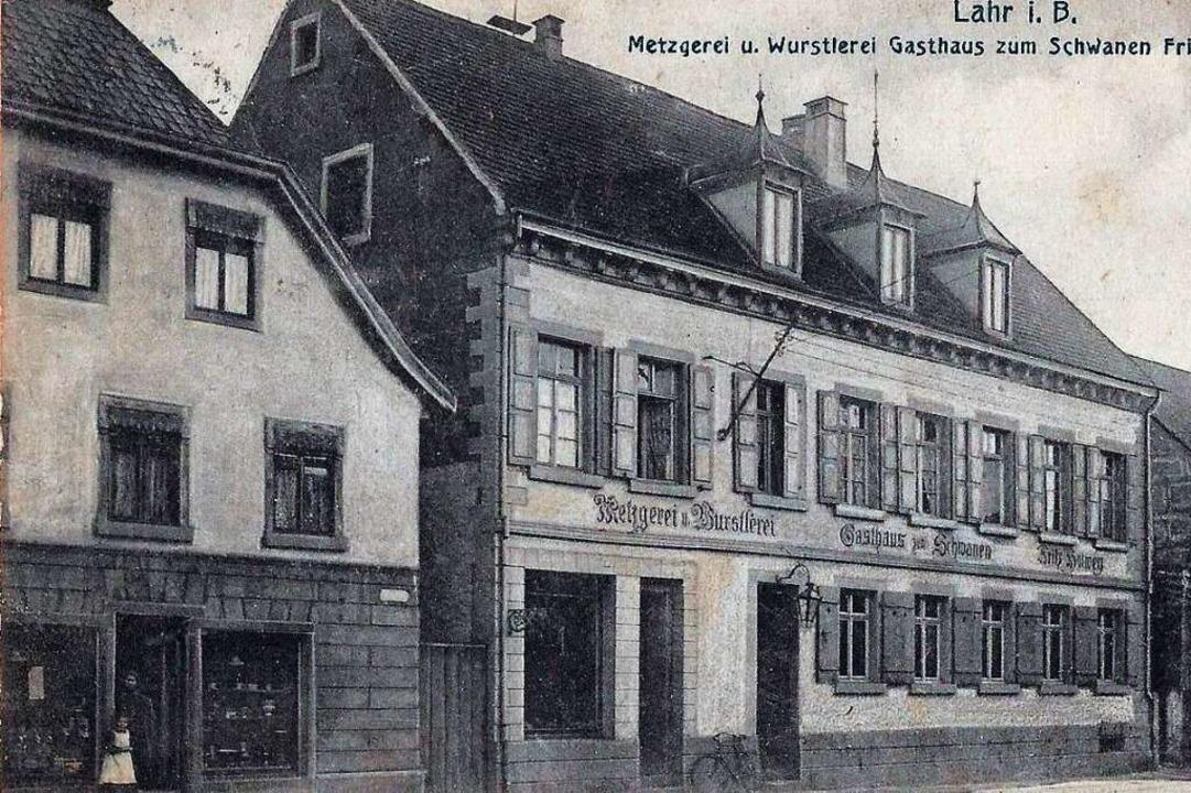 Das Gasthaus Schwanen im Jahr 1909  | Foto: Manfred Eble