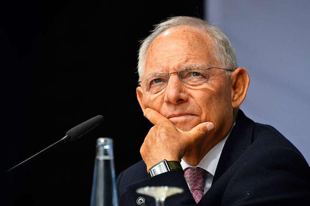 Wolfgang Schäuble  | Foto: Michael Bamberger