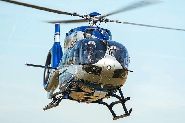 Bundespolizei sucht mit Hubschrauber nach Automaten-Knacker in Norsingen