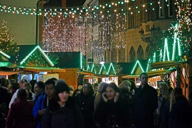 Alle Jahre wieder gibt's Streit um den Freiburger Weihnachtsmarkt