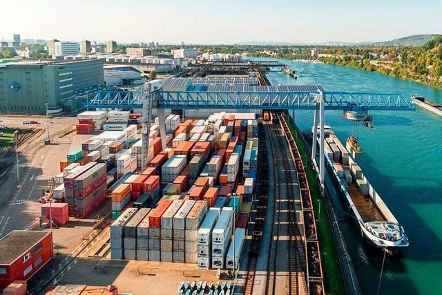 Die Rheinhäfen in beiden Basel legen deutlich zu