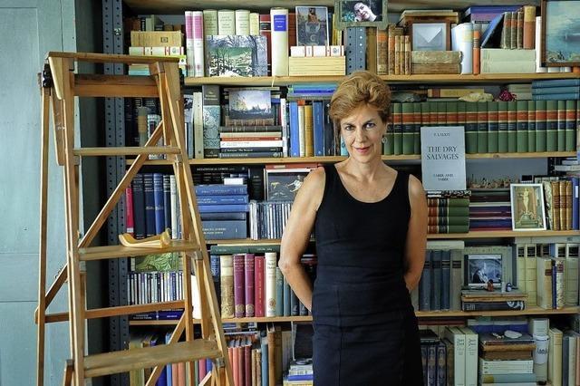 Literaturwissenschaftlerin Barbara Vinken zu Gas tbei Vitratalk im Schaudepot in Weil am Rhein