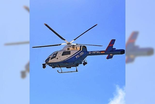 Fahndung mit Hubschrauber