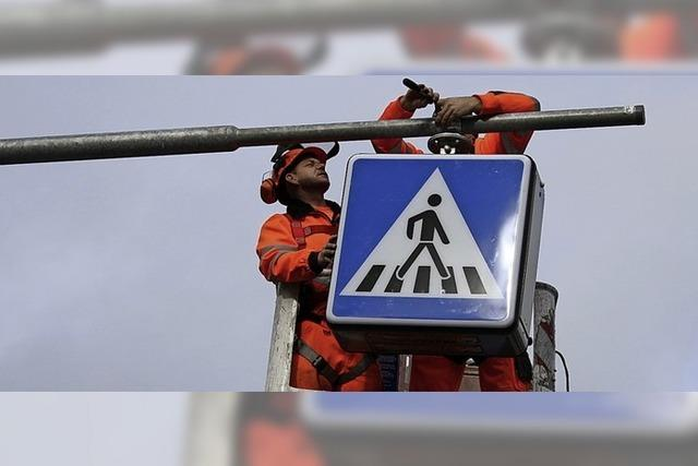 Sicherer Weg für Fußgänger