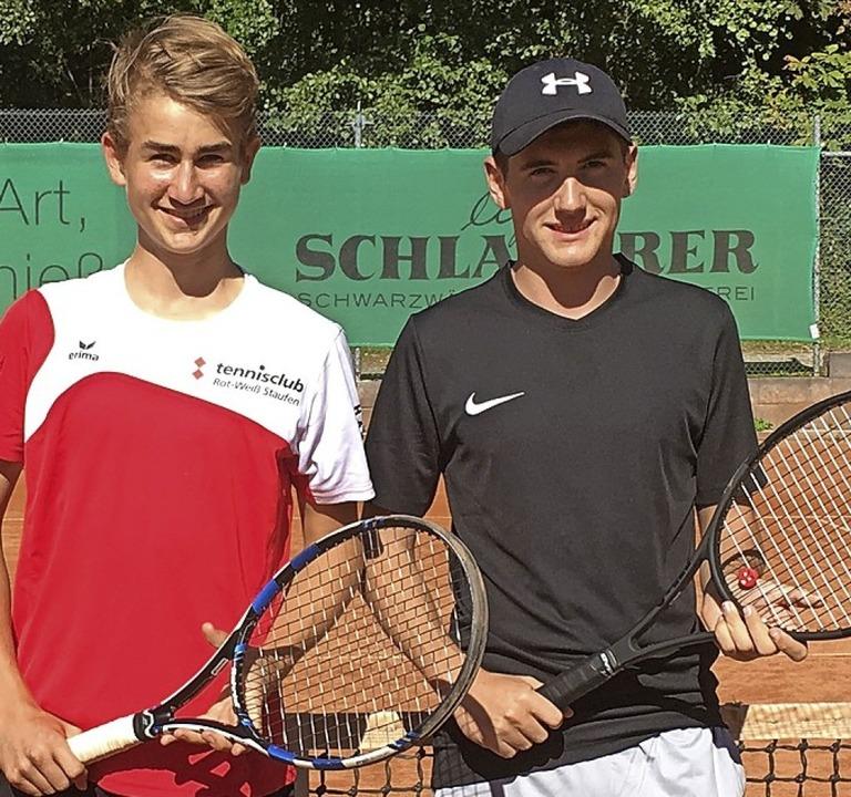 <BZ-FotoAnlauf>TC RW Staufen:</BZ-Foto...iche greifen wieder zum Tennisracket.     Foto: Privat