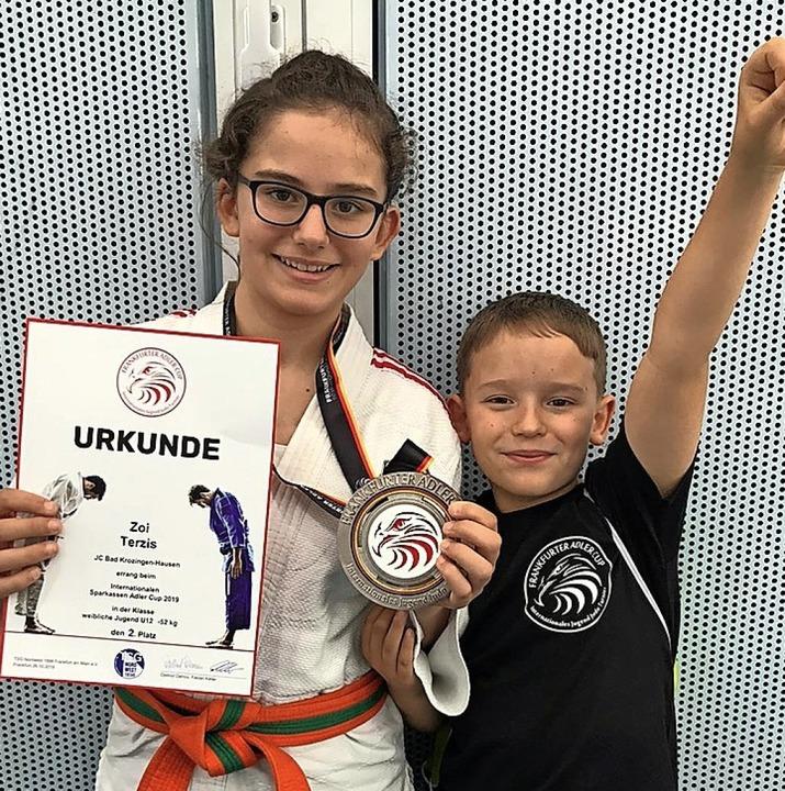 Judoclub Bad Krozingen: Zoi Terzis freut sich über Silber.     Foto: Privat