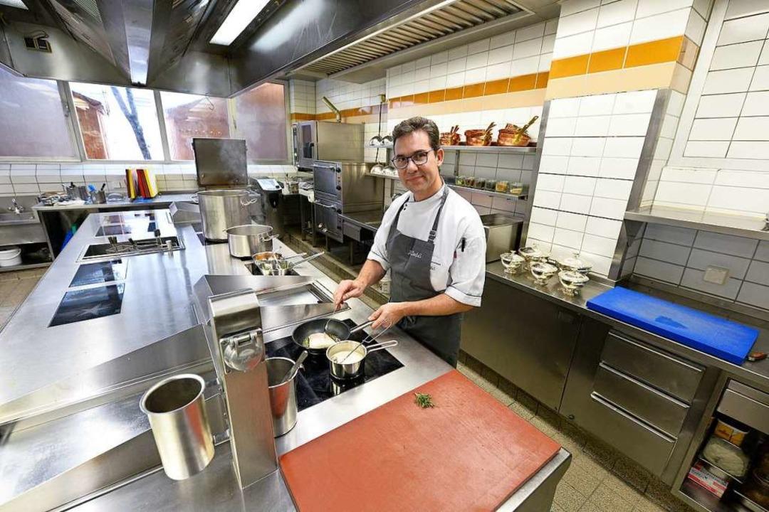 Hat 16 Gault-Millau-Punkte erkocht und... neue Colombi-Küchenchef Harald Derfuß  | Foto: Ingo Schneider